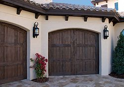 martin hawaii walnut grooved doors overhead garage door