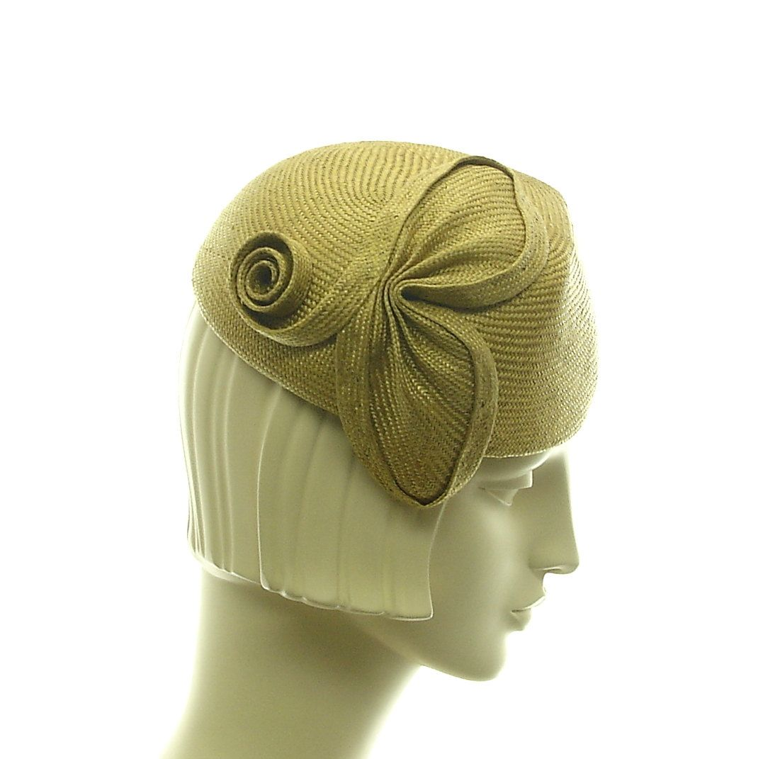 d022b9e76 Handmade Hat - Pillbox Hat for Women - Retro Style Straw Cocktail ...