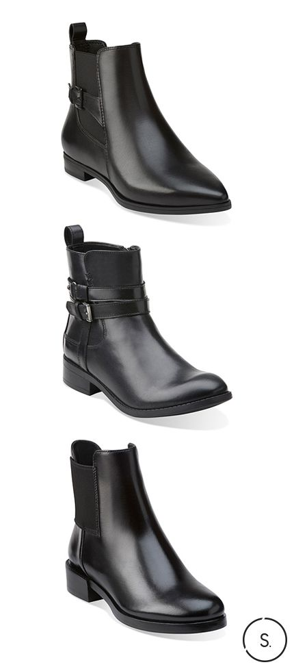 Black ankle boots by Clarks can be worn with everything from your favourite  denim to that