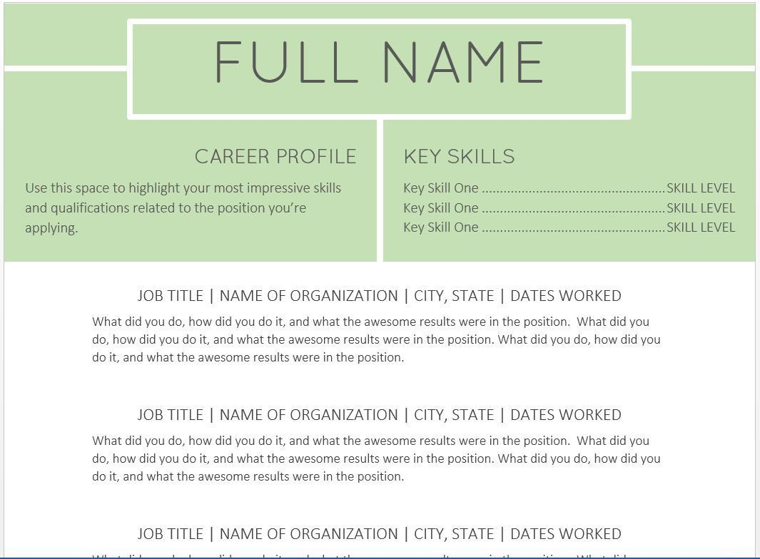 The  Best Resume Templates YouLl Want To Download  Template