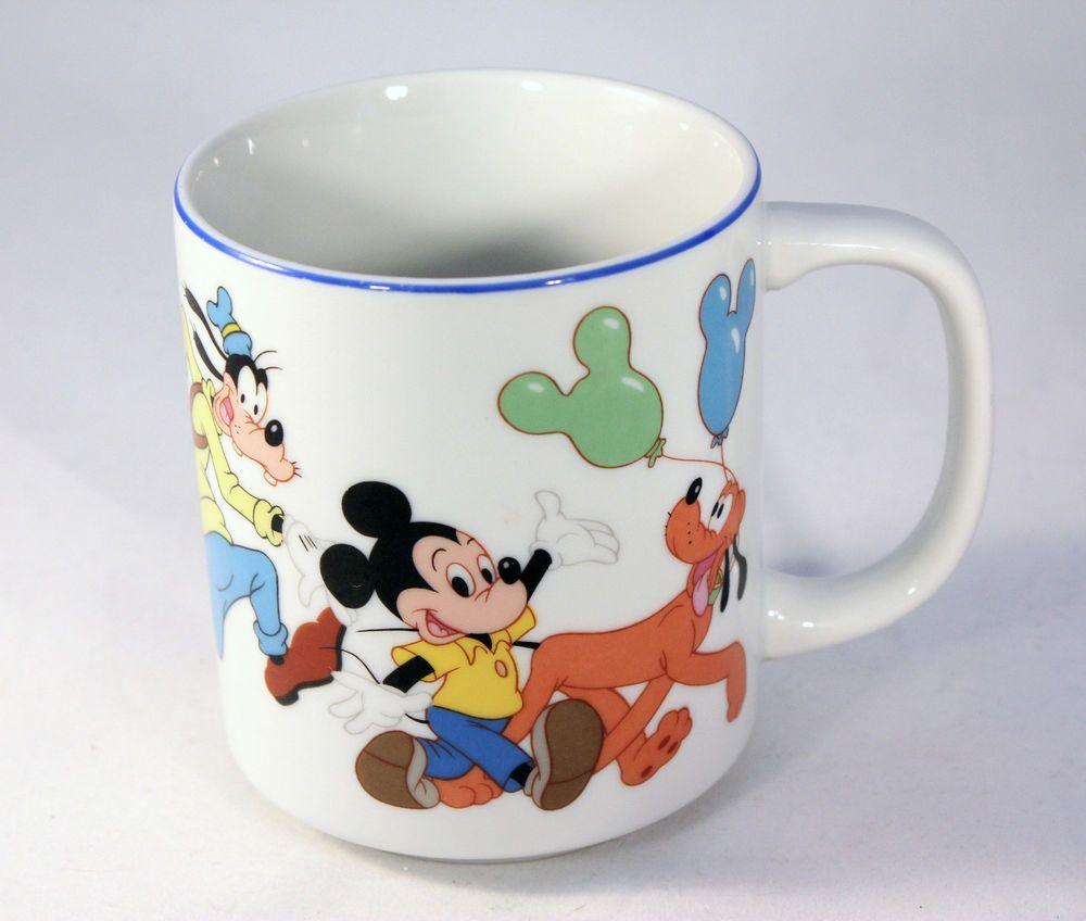 Disney World Disneyland Coffee Mug Cup Mickey Minnie Mouse Donald Pluto Goofy #WaltDisneyWorldDisneyland
