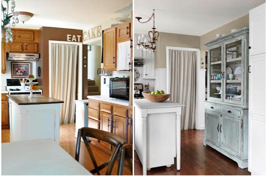 Robin Egg Kitchen Cabinets With Hardwood Flooring