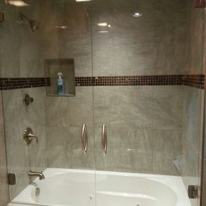 Gl Shower Door Above Tub