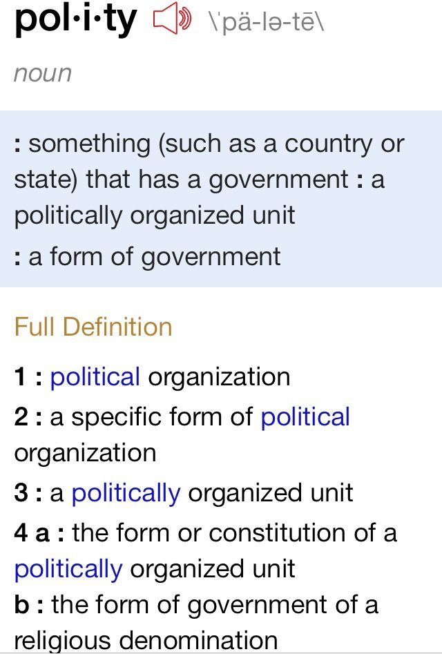 Organized Government Definition