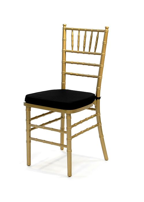 Gold Tiffany Chair with Black Cushion – Gold Chair Cushions