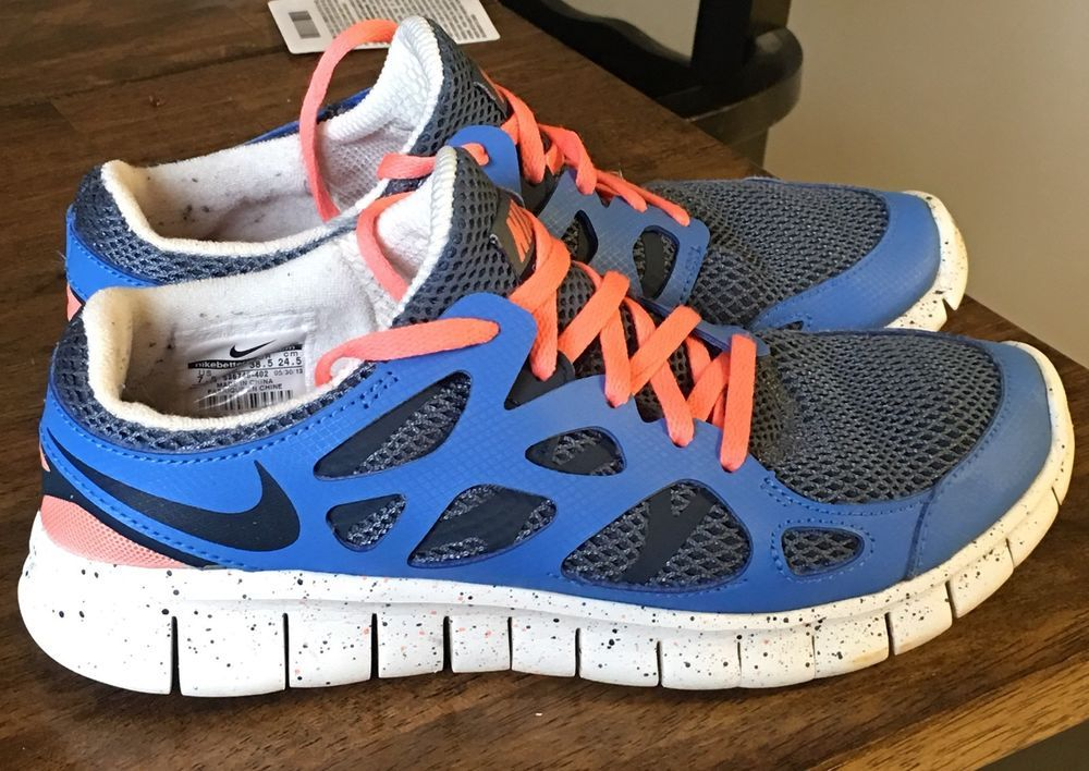 info for eeefb 2725c Nike Women's Free Run 2 Running Shoes Slate Blue Pink 536746 ...