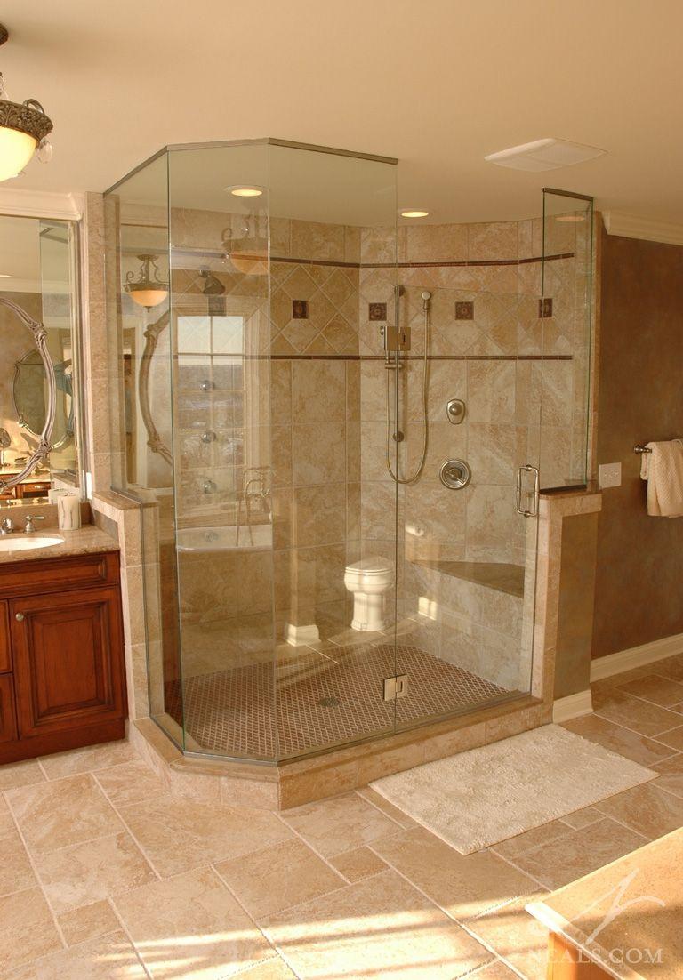 Image result for large master bathroom walk in shower   { the ...