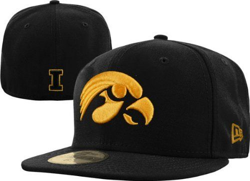 0dc2c61977b NCAA Iowa Hawkeyes College 59Fifty by New Era.  23.99. wool. 100% Wool.  This 59Fifty® Fitted Cap Features An Embroidered (Raised) University Of  Iowa ...