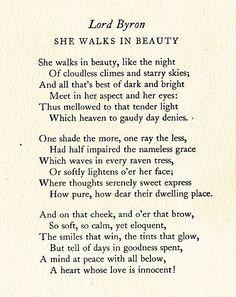 She Walks In Beauty Byron