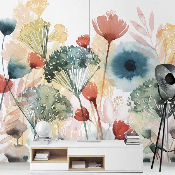 Fototapete Wildblumen im Sommer I en 2020 Murales