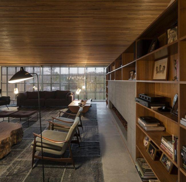 Bücherregale Stühle Design Wohnzimmer rustikal Ideen rund ums - wohnzimmer ideen rustikal