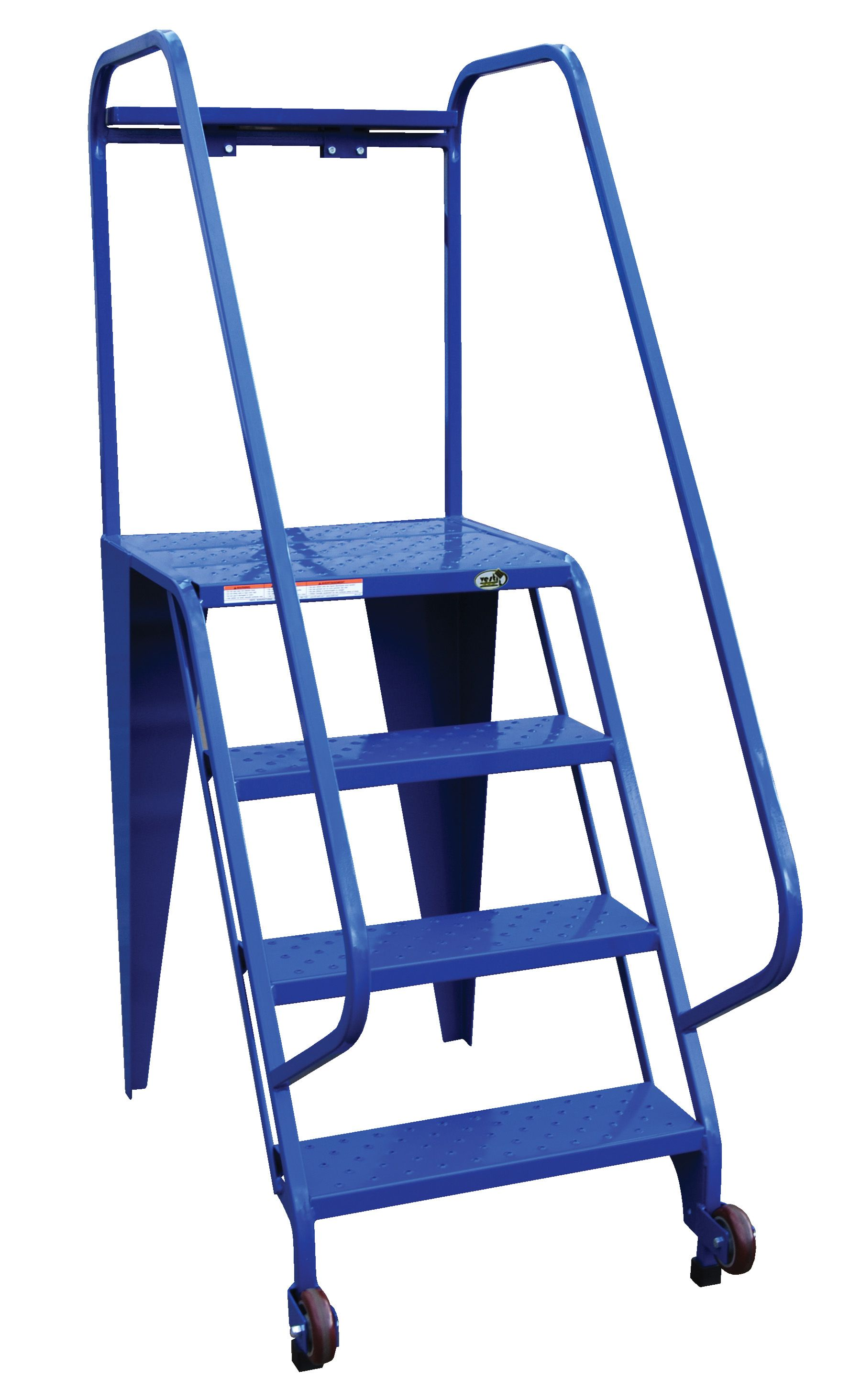 These All Welded Rolling Ladders Are Available In Either Straddle Or Non Straddle Design Choose The Straddle Base For Areas Wi Safety Ladder Ladder The Struts