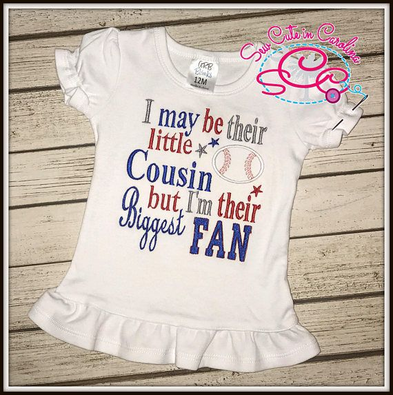 6f44b657e Little Cousin, Biggest Fan Baseball shirt/bodysuit--Choose from