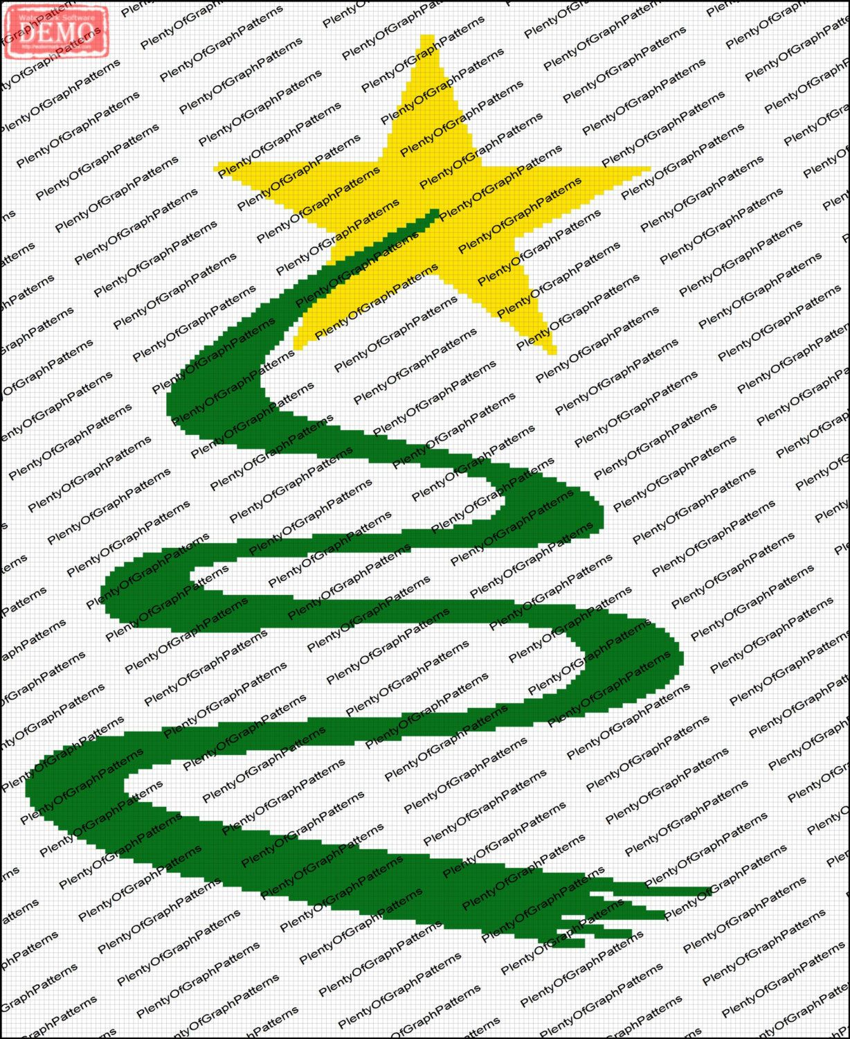 Ribbon Christmas Tree Graph Pattern By