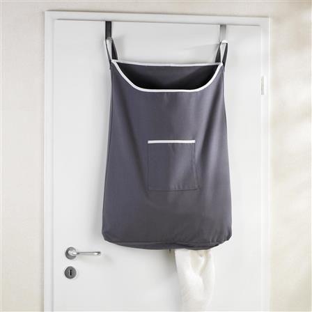 Wenko Canguro Over The Door Laundry Bin Grey Hanging Laundry