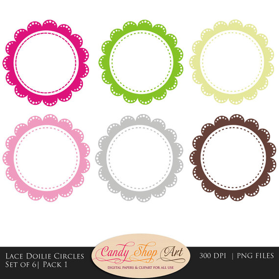 Instant Download Lace Doilie Circles Clipart Scalloped Etsy In 2021 Clip Art Circle Clipart Free Clip Art