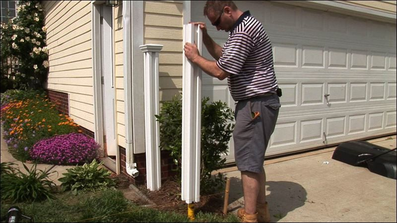 If You Are Installing Vinyl Fencing You Can Pound In A Metal T