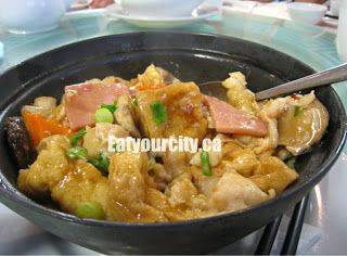 Sizzling Basa Fillets Fried Tofu And Ham Hot Pot Food Fried Tofu Eat