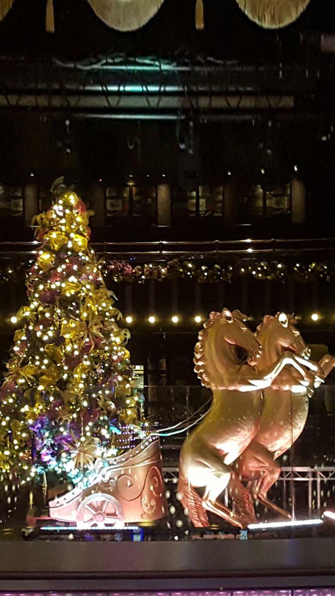 Christmas tree reindeers bespoke Christmas venue