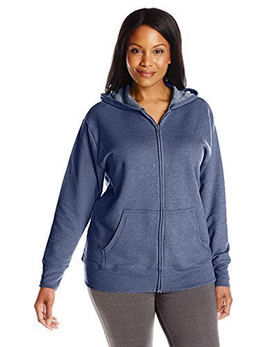 40e75585e40 Just My Size Women s Plus-Size Full Zip Fleece Hoodie