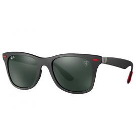 e99802463de Ray Ban RB4195M Scuderia Ferrari Collection sunglasses – Black Frame    Green Classic Lens