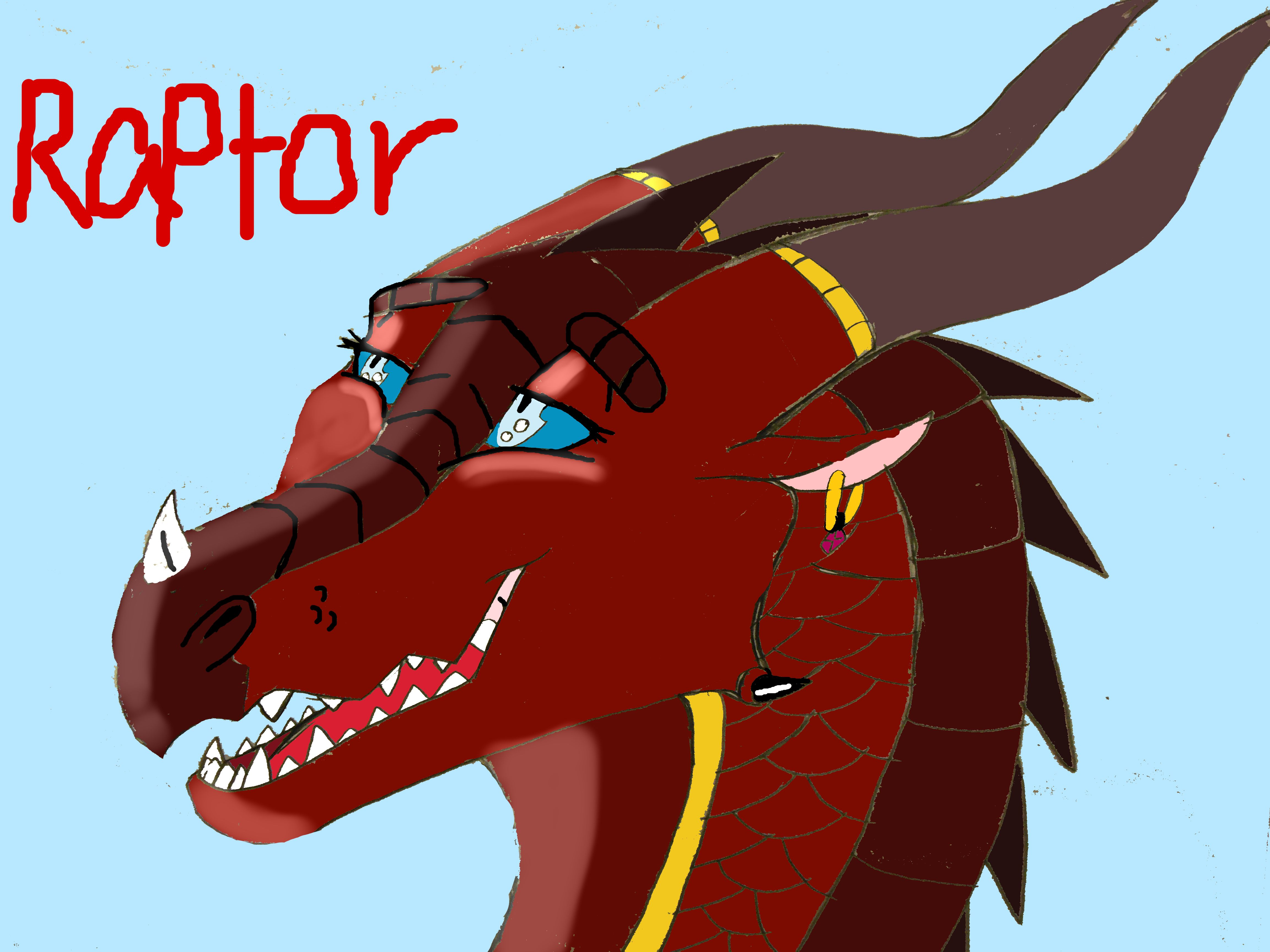 My new character Raptor the skywing drawn and created by me Novaeclipse