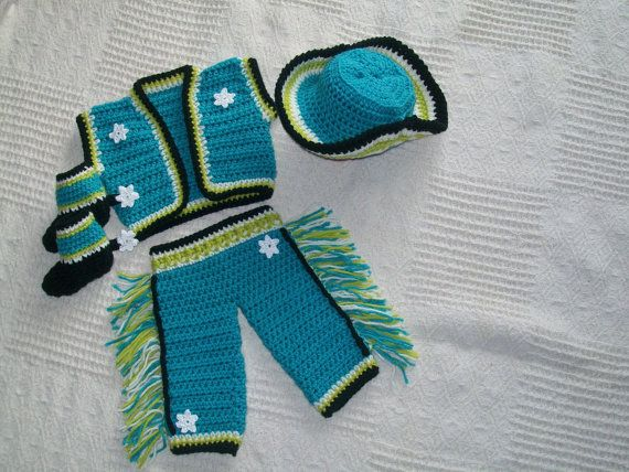 Boys Cowboy Costume Set - baby boy gifts - western baby wear - Crochet  cowboy - Baby shower gifts - cowboy hat and boots - pants with fringe 0fd3b61d1fb