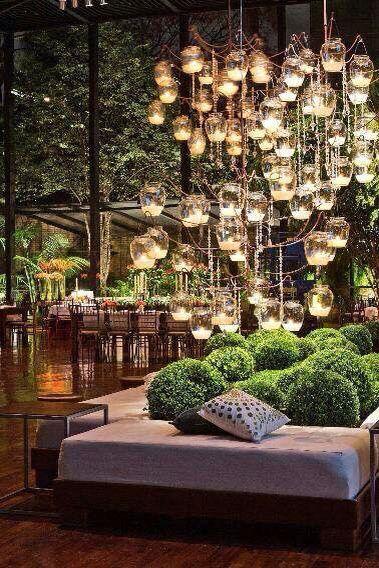Para iluminar de noche el jardín Decoracion Bodas Pinterest