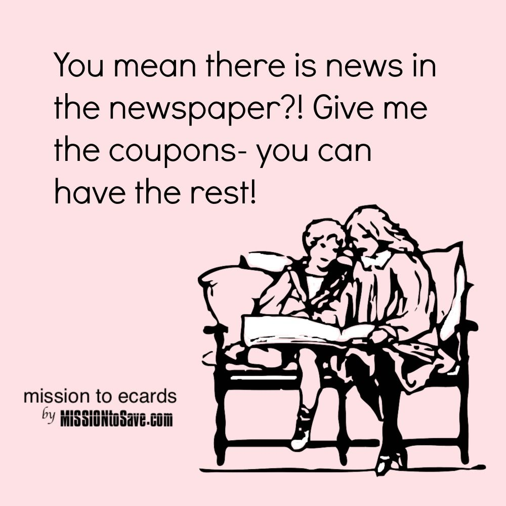 Newspaper Inserts Archives Mission To Save Couponing Quote Cleaning Quotes Funny Sunday Newspaper Coupons