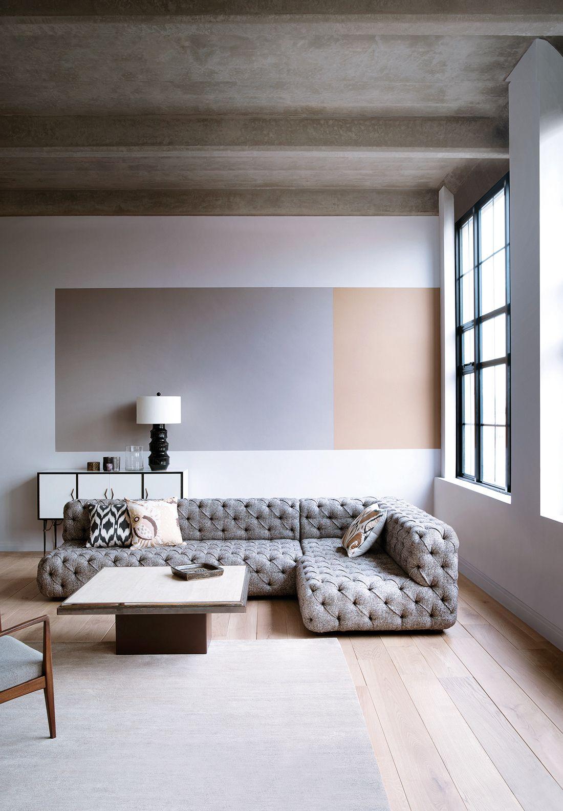 Modele maison moderne salon classique style minimaliste peinture salon modèle maison
