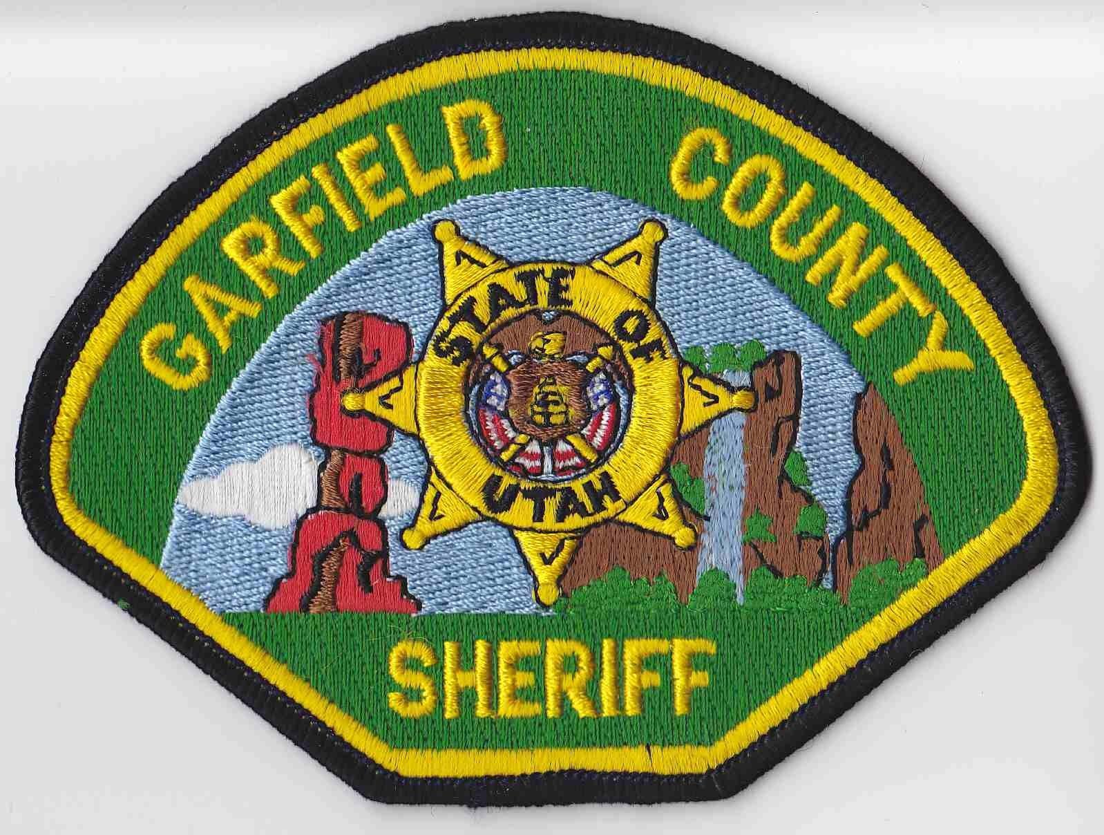 Garfield County Utah Bombeiro Policia Estampas