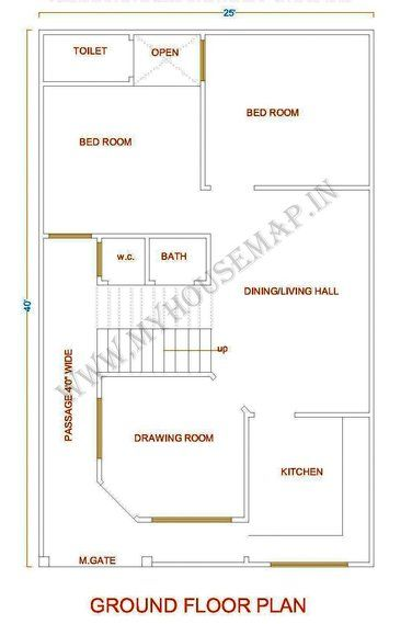 25 40 House Plan In 2020 House Map Luxury House Plans My House Plans
