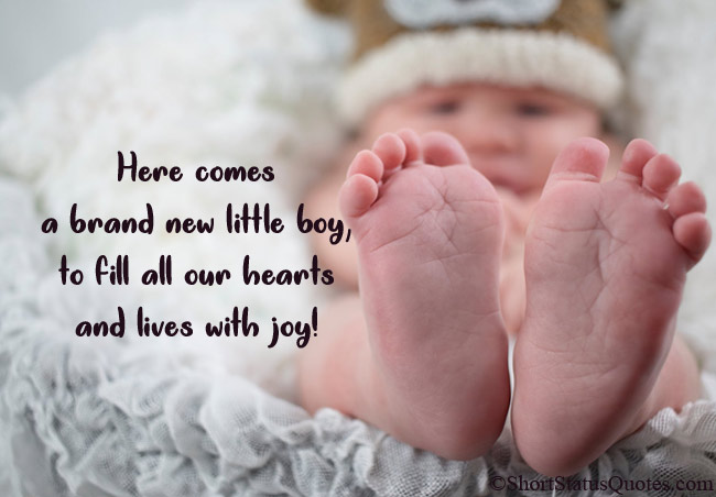 New Born Baby Status Captions And Messages Newborn Baby Quotes Congratulations Baby New Born Baby Status