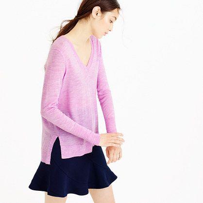 J.Crew - Merino wool V-neck tunic sweater  72ca89b978