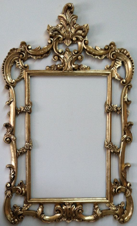 Shabby Chic Wall Mirror Frame, Large Baroque Frame, Mid Century ...