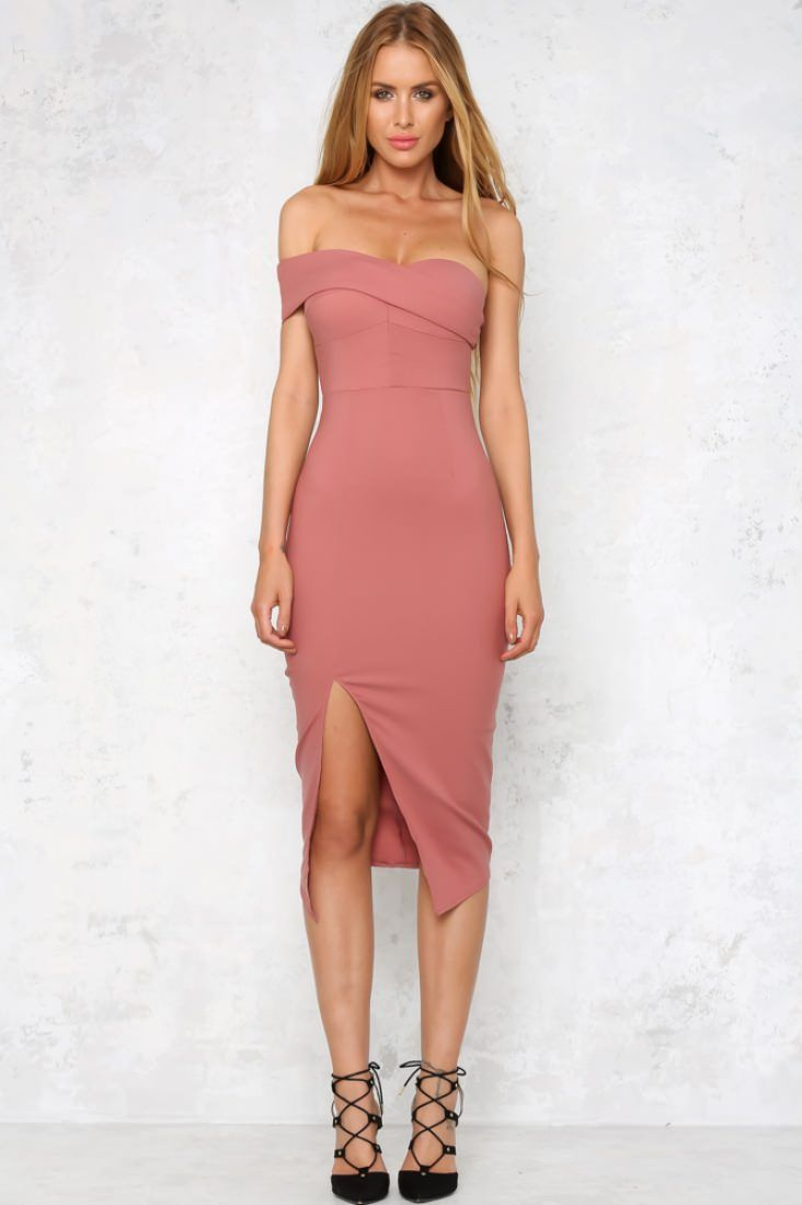 Symphony of Light Midi Dress Dusty Pink | Pinterest