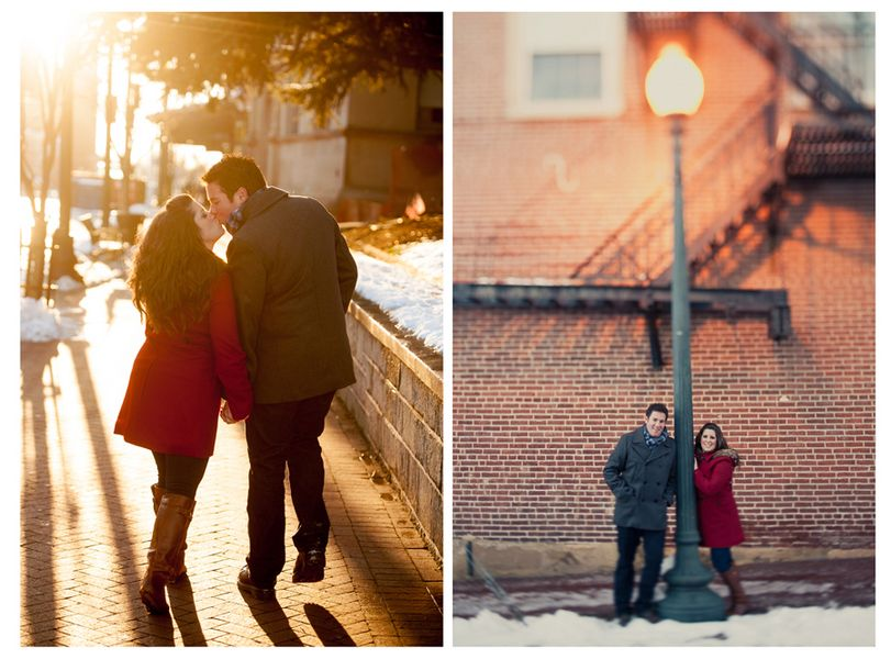 #winter #snow #engagement #rustic #love