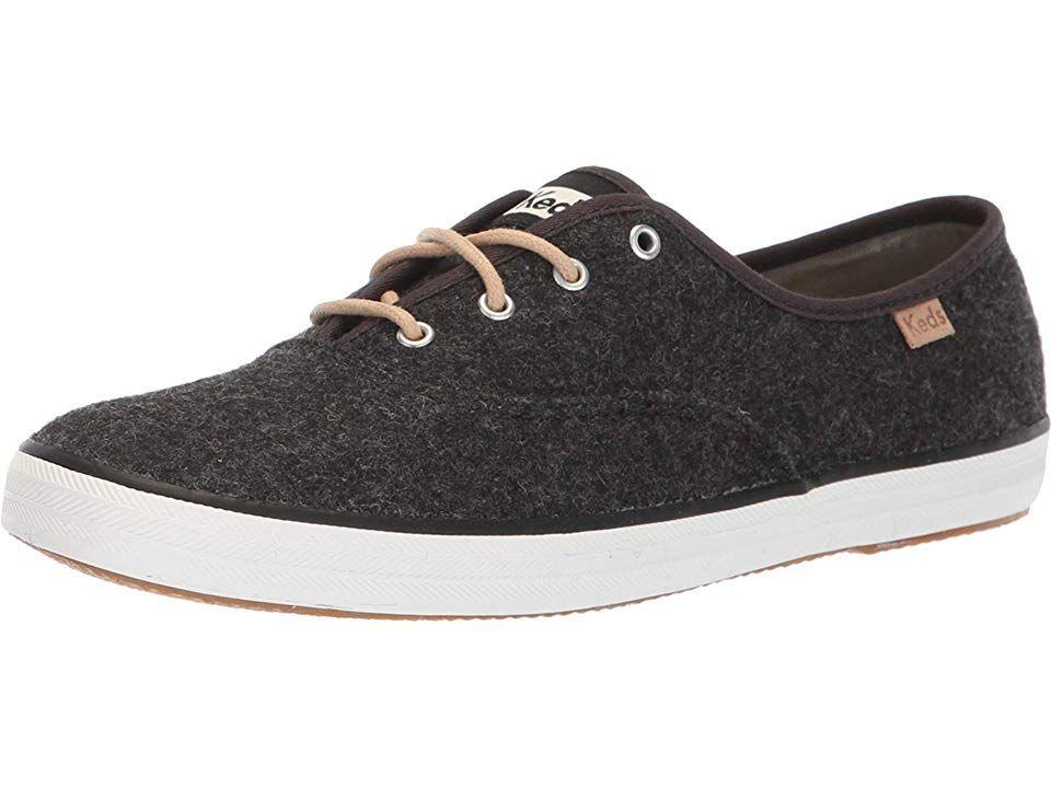 ea50490e471 Keds Champion Felt Women s Shoes Charcoal