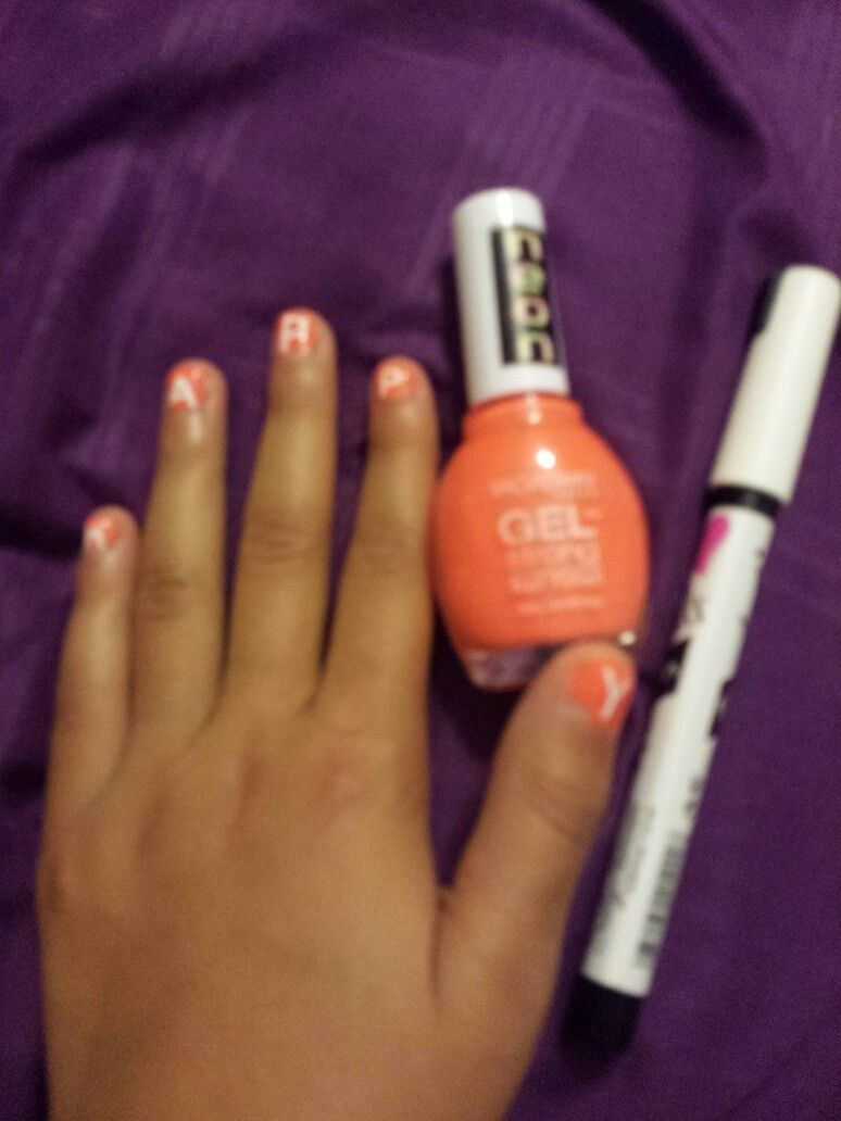 New Trend! Fall Nails! Design: Neon Orange polish by Broadway Nails ...