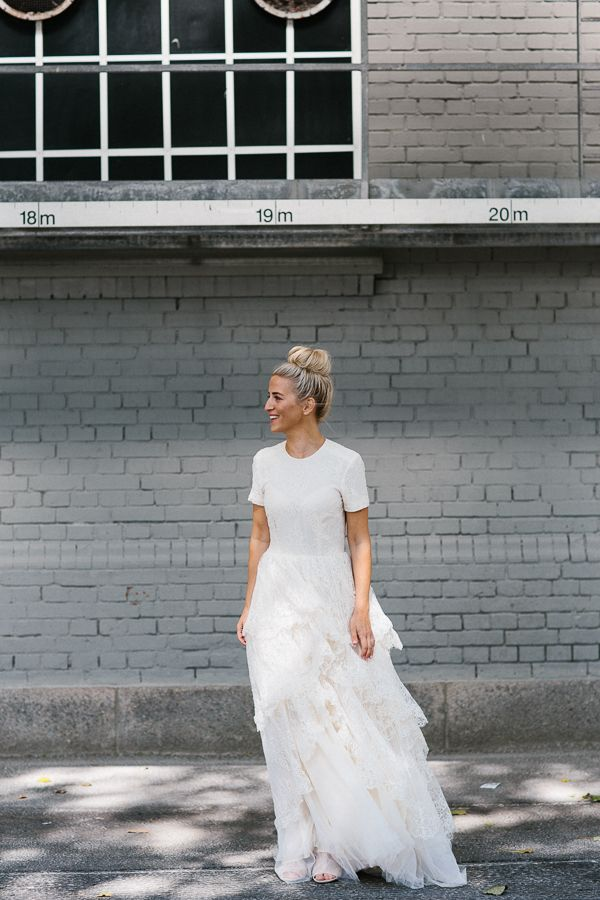 Scandinavian Wedding from Malmö. Dress from H&M Conscious Exclusive ...