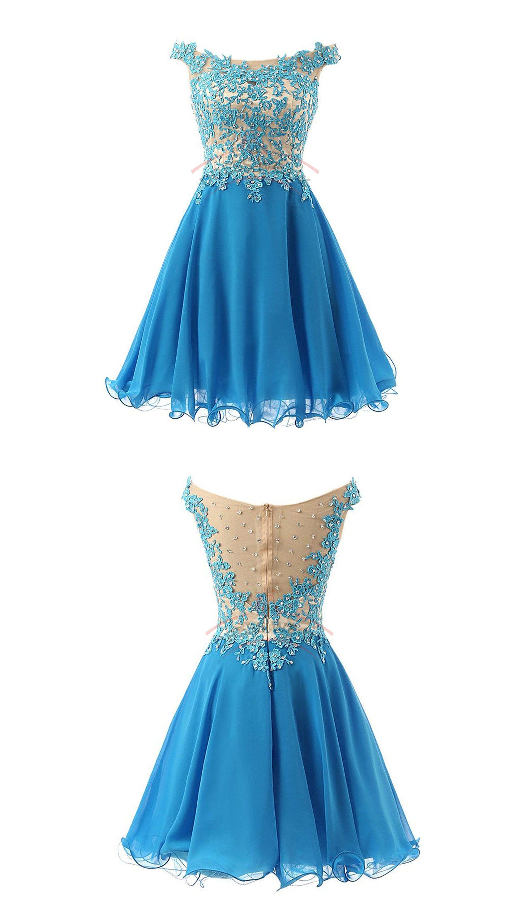 Pretty Straps Lace Party Dresses,Bodice Party Dresses,Short Party Dresses,Applique Party Dresses
