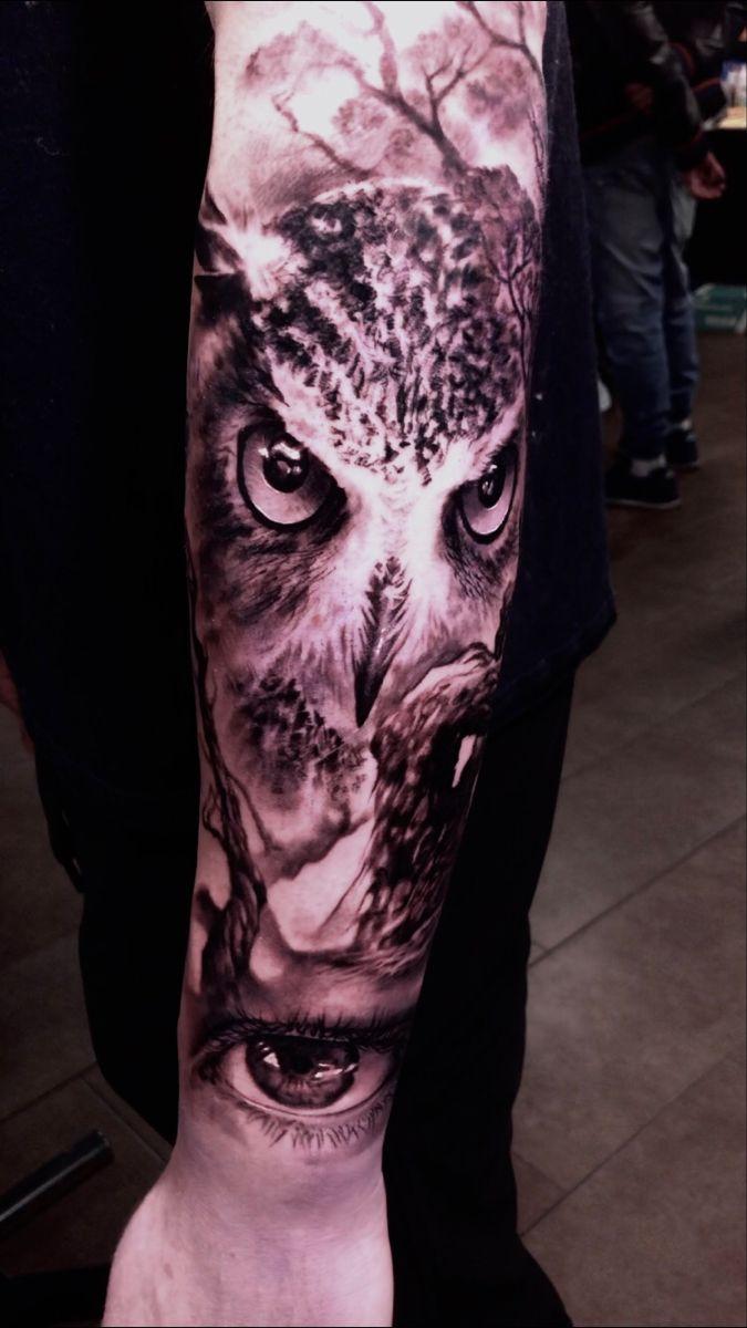 #tattoo #realism #naturetattoo #owltattoo #owl #foresttattoo #treetattoo #eyetattoo #tats #toronto #tattoorealistic #tattooideas #realismtattoo