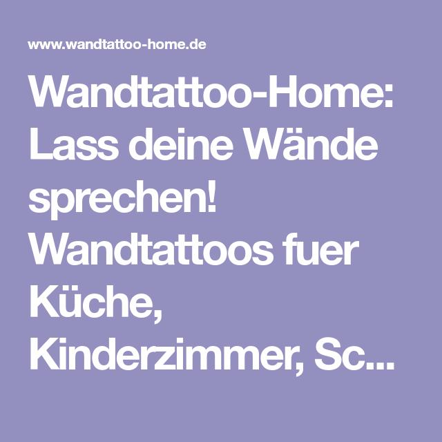 Wandtattoo-Home: Lass deine Wände sprechen! Wandtattoos fuer Küche ...