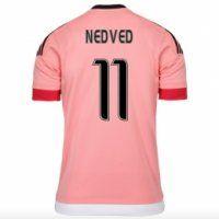 c5a928378 Juventus Away 2015-16 Season Pink NEDVED  11 Soccer Jersey ...