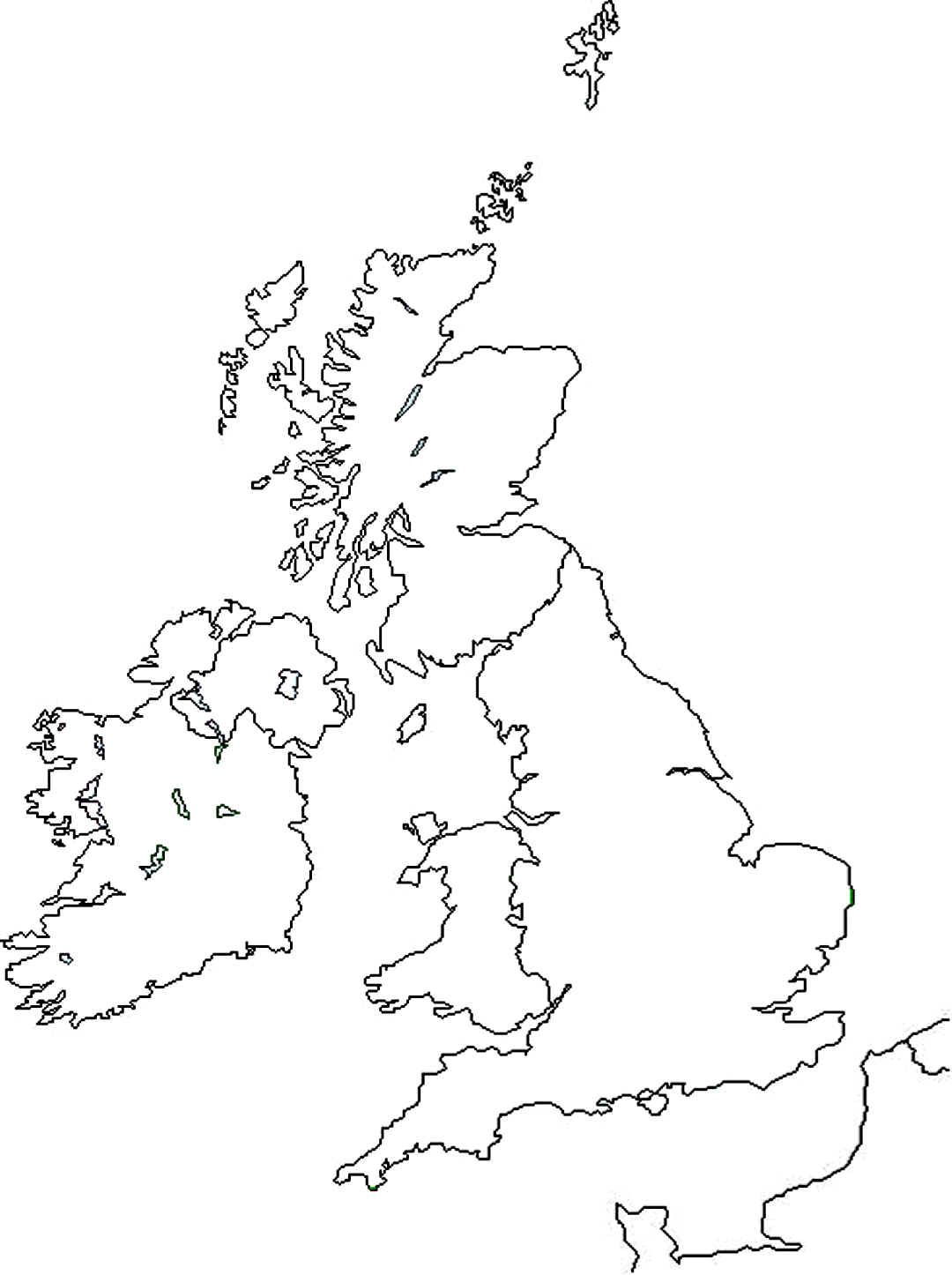 Outline United Kingdom Colouring Pages
