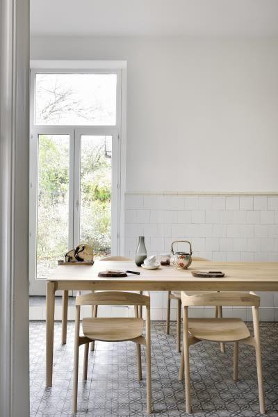 Küchen Und Esszimmerstühle : ethnicraft oak bok dining table with oak bok dining chairs ~ Watch28wear.com Haus und Dekorationen