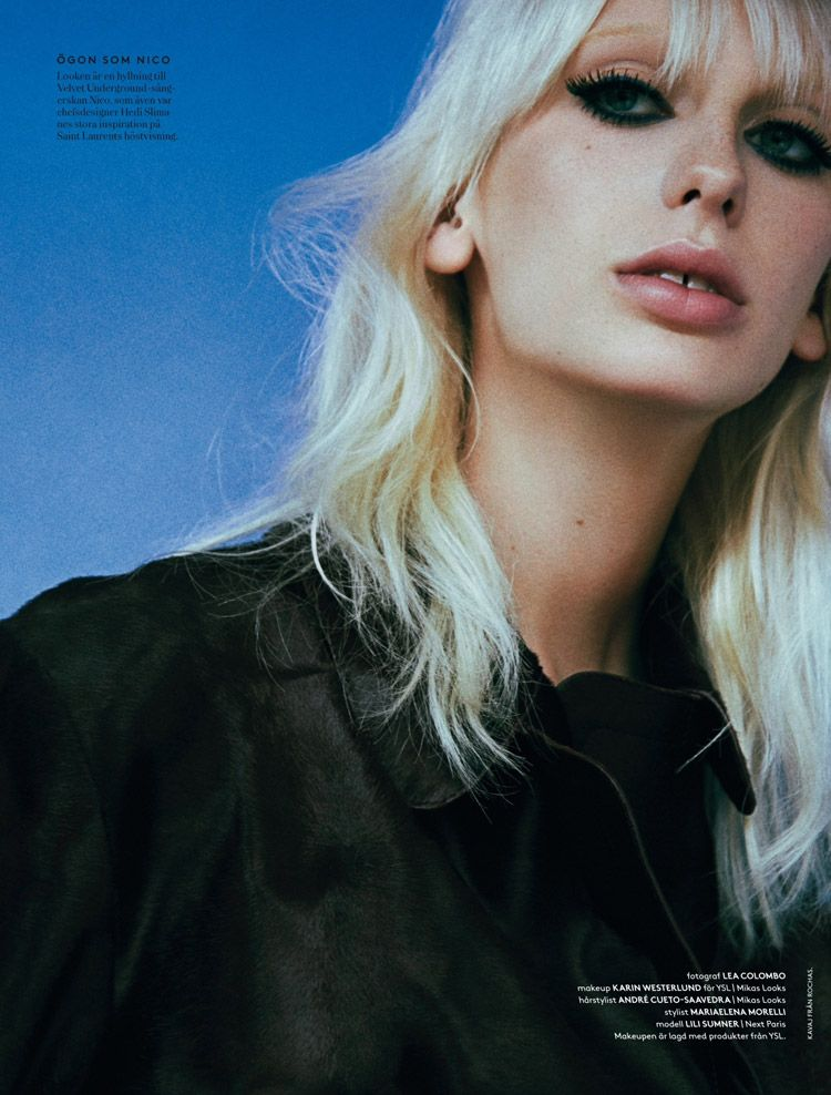 Lili Sumner for Styleby - YSL beauty Editorial; photographer Lea Colombo
