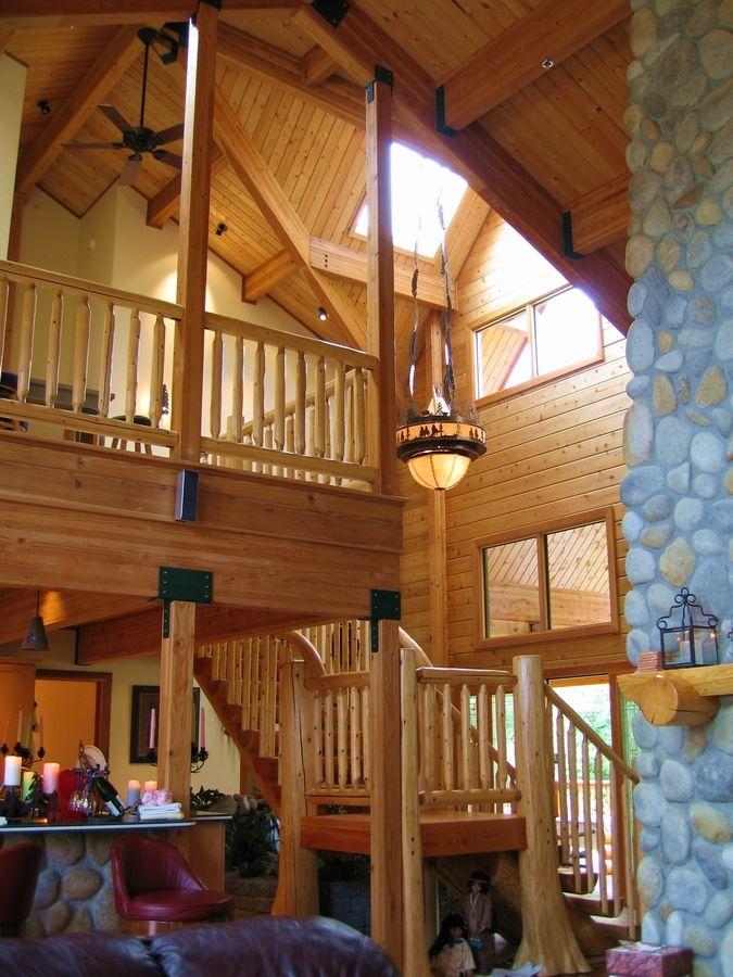 Cedar Log Cabin Interior Cedar Homes And Cabin Kits