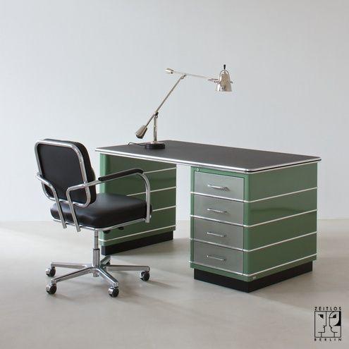 art deco streamline desk schreibtisch tb 225 2 via zeitlos berlin vintage design objects. Black Bedroom Furniture Sets. Home Design Ideas