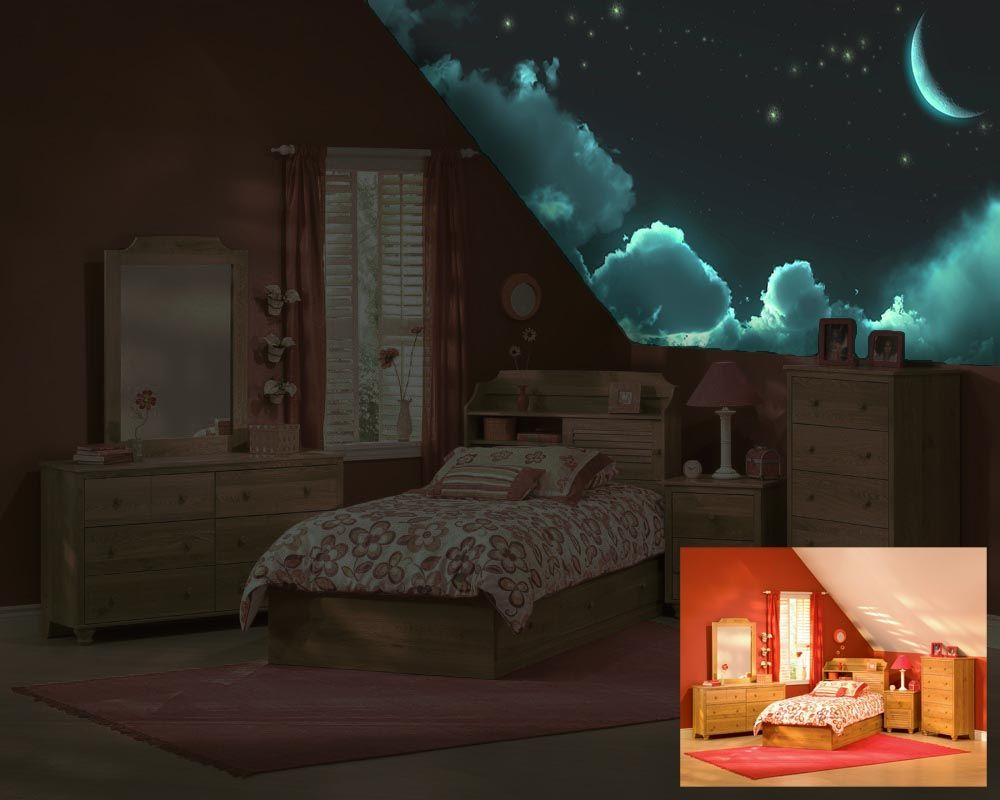 Bedroom ceiling lights stars - Invisible Sky Light Another One That Would Be Great In A Child S Room On The Ceiling